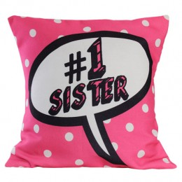 Soft Pink Sister Cushion