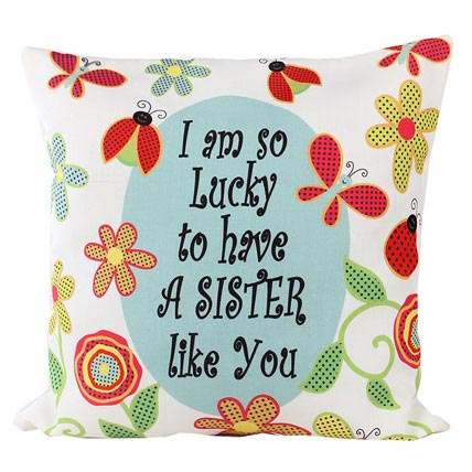 Cushion With A Message For Sister