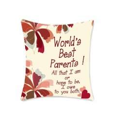 Worlds Best Parents cushion
