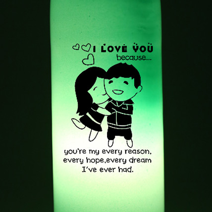 I Love You Because Lamp