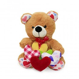 Teddy with many hearts