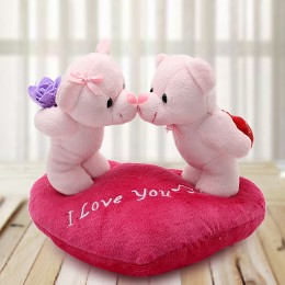 Teddy Love n Cushion Valentine