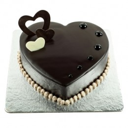 Chocolate Hearts Cake  Eggless