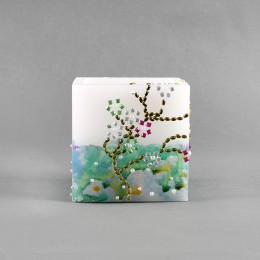 Dual Shade Square Hollow Candle
