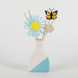 Blue & White Floral Reed Diffuser Set