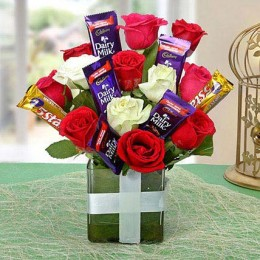 Perfect Choco Flower Arrangement