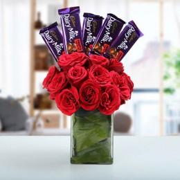 Classic Choco Flower Arrangement