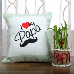 Lucky Bamboo N Cushion Pair For Papa