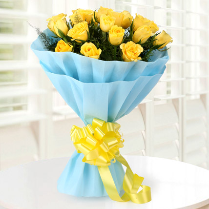 Enticing 20 Yellow Roses