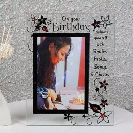 Personalised Plain Glass Photo Frame