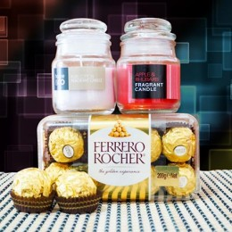 Ferrero Rocher With Fragrant Candles