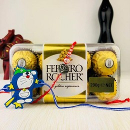 Bandhan Two Rakhi with Farrero Rochar