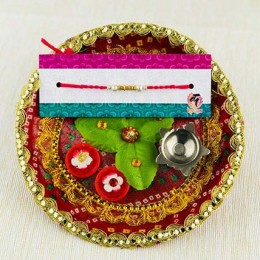 Bandhan Rakhi with Traditional Thali
