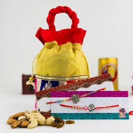 Two Best Brothers Rakhi Set With Dry Fruit