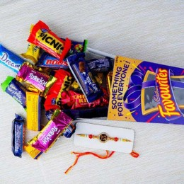 Rakhi with Cadbury Favourite