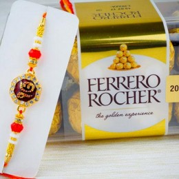 Lovelly Rakhi With Ferrero Chocolate