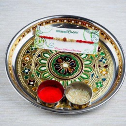 Super bhaiya Rakhi With Traditional Thali