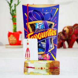Family Two Rakhi Set with Cadbury Favourite