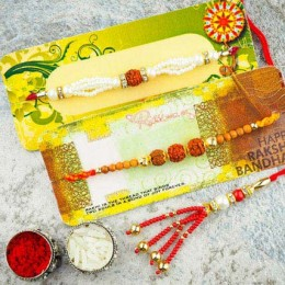 Awesome Three Rakhi Set
