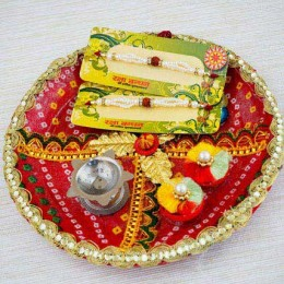 Ham Saath Saath Hai Rakhi with Traditional Thali