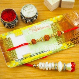 Aussie Bhaiya Bhabhi Two Rakhi Set
