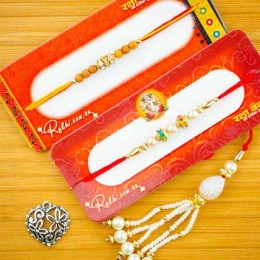 Bhaiya Bhabhi Three Rakhi Set