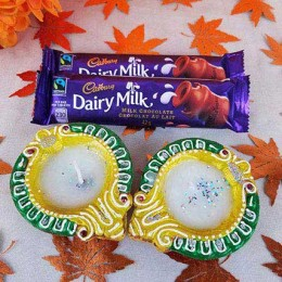 Dairy Milk With 2 Diyas