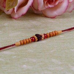 Artistic Beaded Rakhi