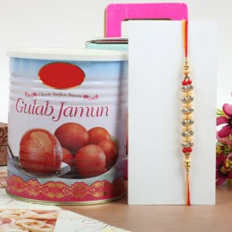 Beautiful Rakhi With Gulabjamun