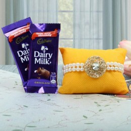 Pearl Rakhi N Chocolates