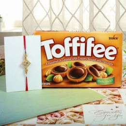 Hazelnut Toffiee Diamon Square Rakhi