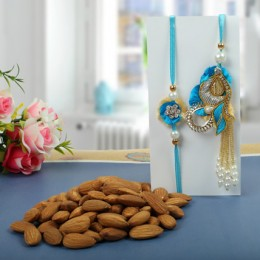 Almond nuts Rakhi Hamper