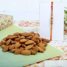 Almond nuts with Sandal Rakhi