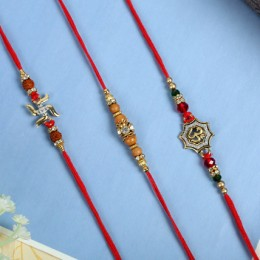 Aum Swastik Traditiona Rakhi Set