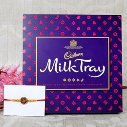 Aum Rakhi  With  Milk Chocolates
