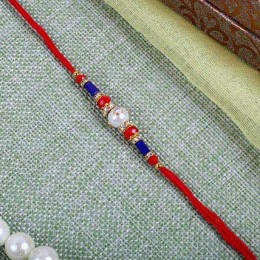 Elegant Red blue Rakhi