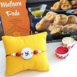 Assorted Peda And Rakhi Combo