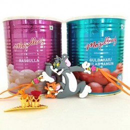 Tom And Jerry Rakhi With Sweets