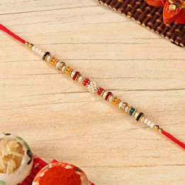 Colorful Beaded Rakhi