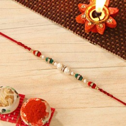 Colorful Pearl Beaded Rakhi