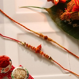 Beaded Rakhi Set Of 2