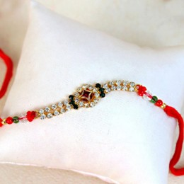 Colorful Designer Stone Studded Rakhi