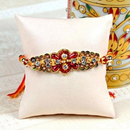 Beautiful Stone Work Bhaiya Rakhi
