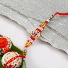 Colorful Om Designer Rakhi