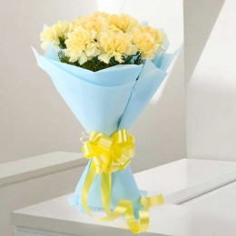 Sundripped Carnations - Bunch of 10 yellow carnations flowers gifts