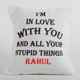 Lovey Dovey Personalized Cushion