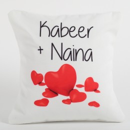 Couple Love Forever Personalized Cushion