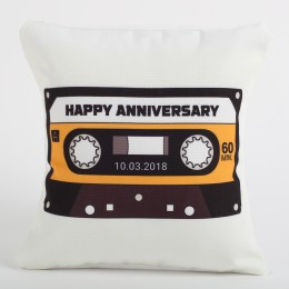 Anniversary Special Personalized Cushion