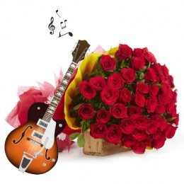 Romantic Red Melody-25 roses