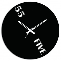55 Black Wall Clock